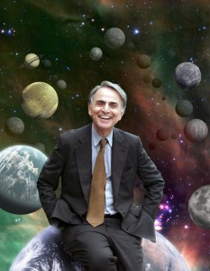 "Carl Sagan on the ""shores of the cosmic ocean"""